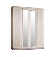 Шкаф 4-х дв. для платья и белья (2 зеркала)